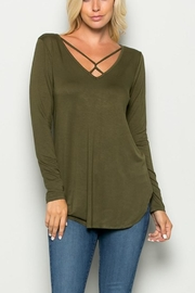 a.gain Twisted Front Tee - Front cropped