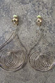 KIMBALS TWISTED GOLD WIRE DANGLE CLIP EARRING - Product Mini Image