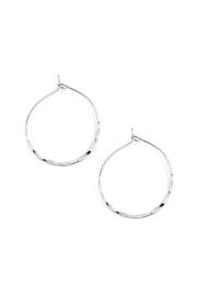 Riah Fashion Twisted Hammered Hoop-Earrings - Product Mini Image