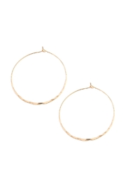 Riah Fashion Twisted Hammered Hoop-Earrings - Front cropped