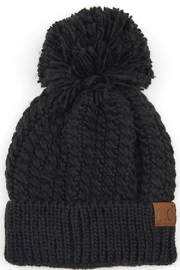 CC Beanie twisted mock cable beanie - Front cropped