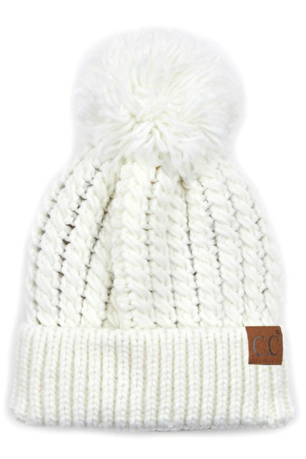 CC Beanie twisted mock cable beanie - Front Cropped Image