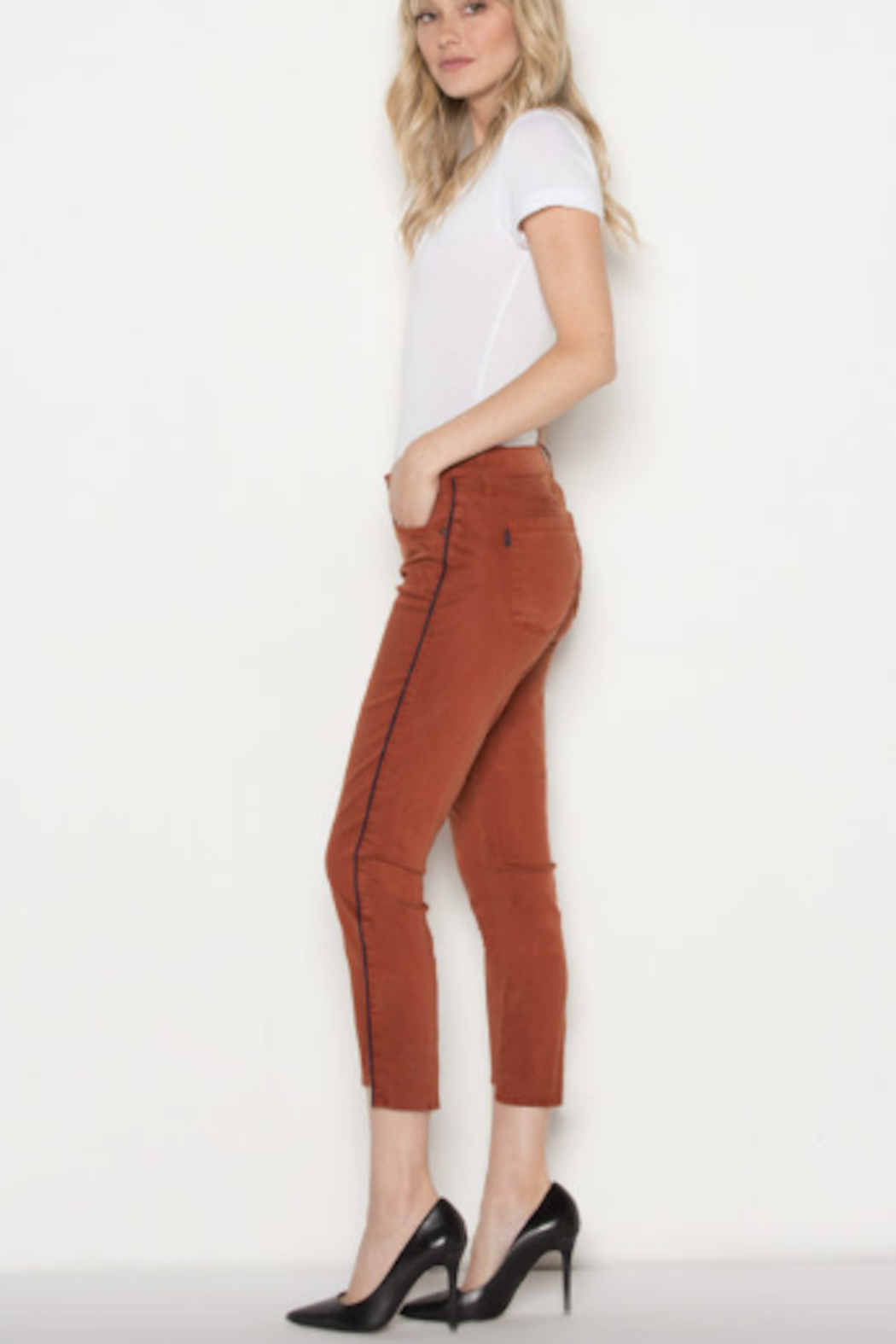 Parker Smith Twisted Seam Skinny Jean - Side Cropped Image