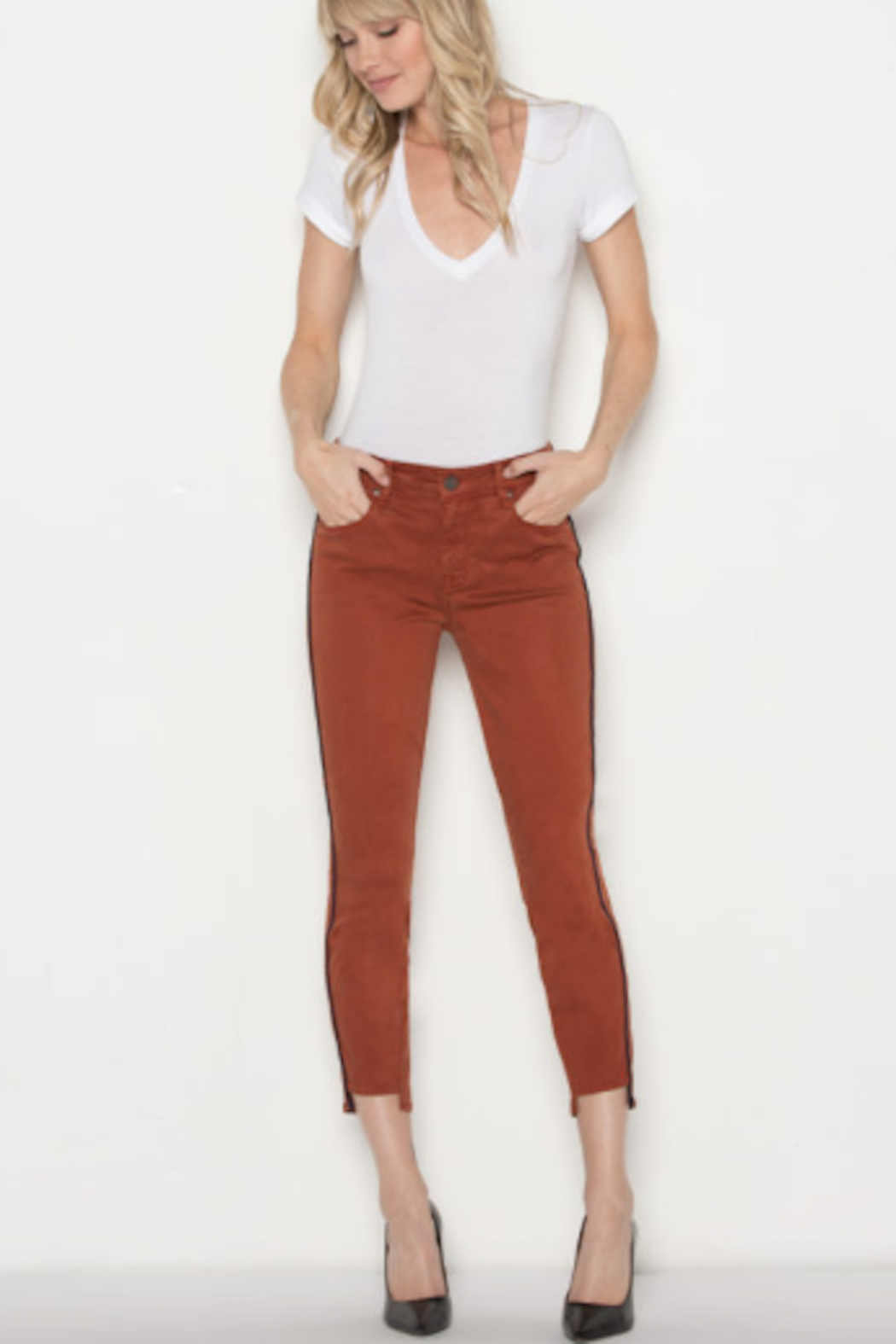 Parker Smith Twisted Seam Skinny Jean - Front Full Image