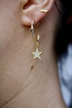 Shoptiques Product: Twisted Star Hoops