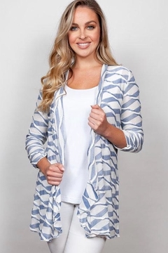 Sno Skins Twisted striped cardigan - Alternate List Image