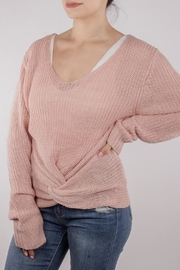 En Creme Twisted Sweater Pink - Product Mini Image