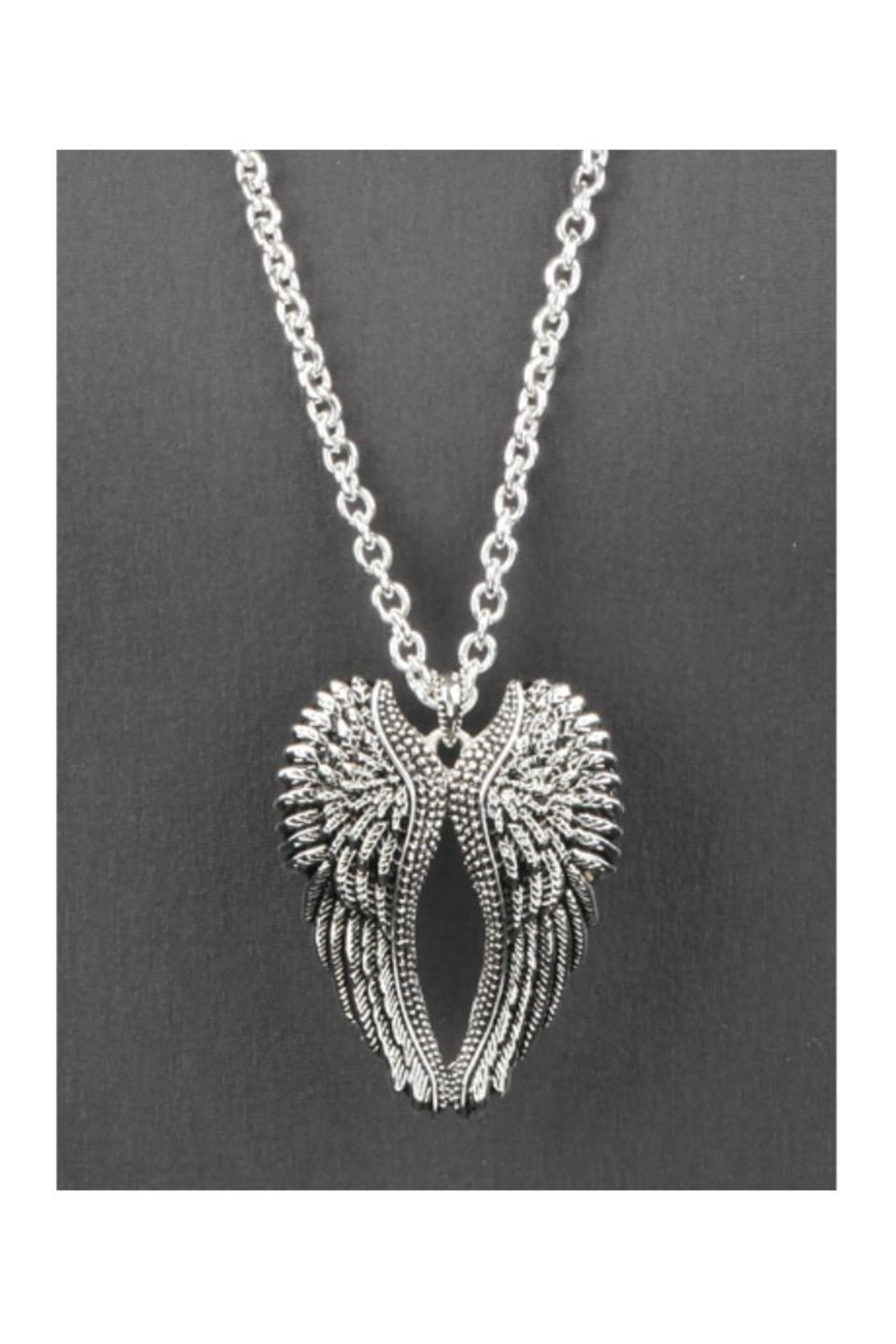 Twisted Designs Angel-Wings Long Necklace - Front Full Image