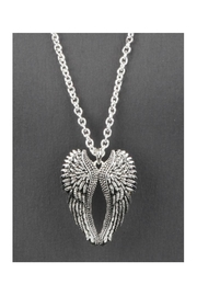 Twisted Designs Angel-Wings Long Necklace - Front full body
