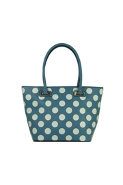 Twisted Designs Blue Polka-Dot Purse - Product Mini Image