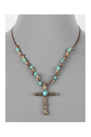 Twisted Designs Cord W/cross-Pendant Necklace - Product Mini Image