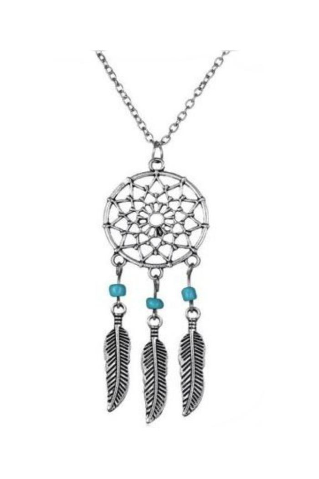 Twisted Designs Dream-Catcher Turquoise-Feather Necklace - Main Image