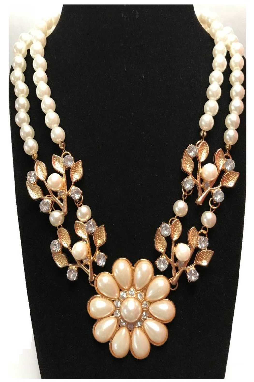 Twisted Designs Faux-Pearl Statement Necklace - Main Image