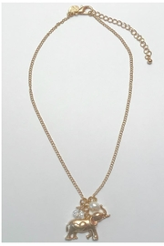 Twisted Designs Gold Elephant Necklace - Product Mini Image
