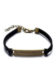 Twisted Designs Leather Bracelet W/quote - Product Mini Image