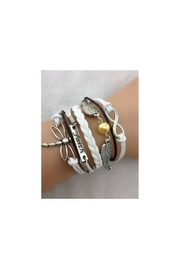 Twisted Designs Leather Multi-Charm Bracelet - Product Mini Image
