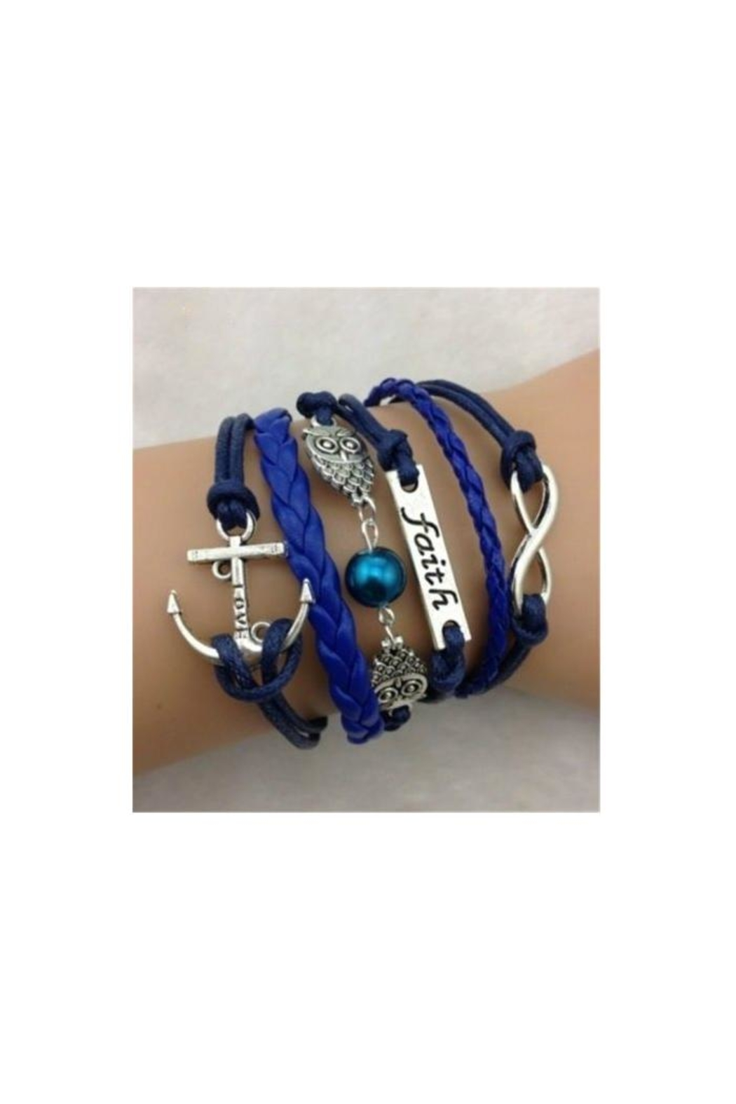 Twisted Designs Leather Multi-Charm Bracelet - Main Image