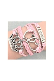 Twisted Designs Leather Multi-Charm Bracelet - Front cropped