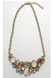 Twisted Designs Matte Gold Statement-Necklace - Product Mini Image