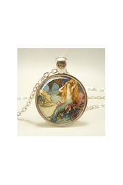 Twisted Designs Mermaid Cabochon-Glass Necklace - Product Mini Image