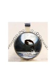 Twisted Designs Mermaid Cabochon-Glass Necklace - Front cropped