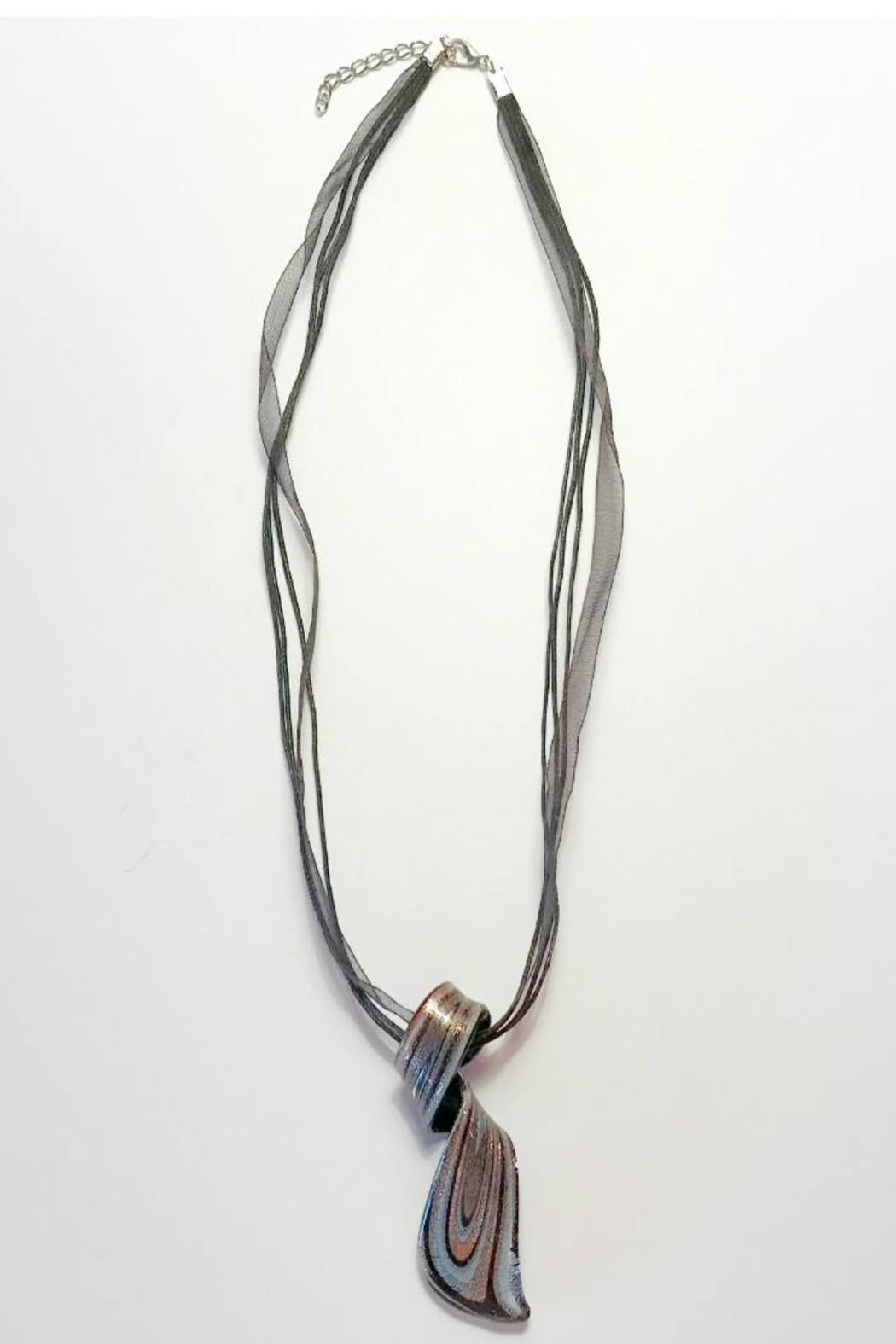 Twisted Designs Murano-Glass Silk Necklace - Main Image