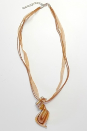 Twisted Designs Murano-Glass Silk Necklace - Front cropped