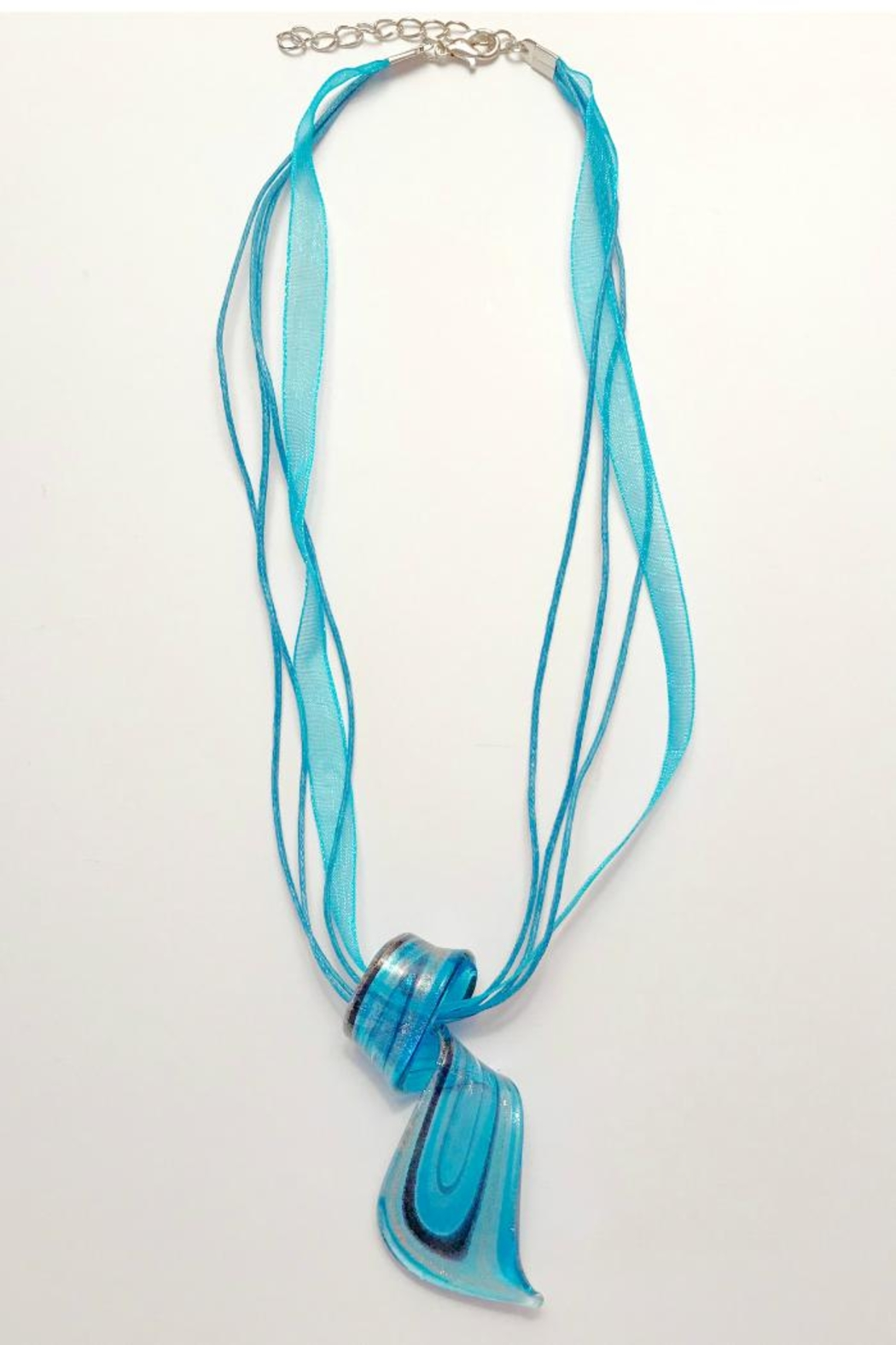 Twisted Designs Murano-Glass Silk Necklace - Front Cropped Image