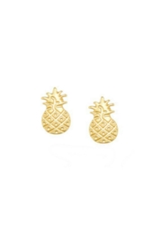Twisted Designs Pineapple Post Earrings-Gold - Product Mini Image
