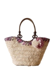 Twisted Designs Purple Straw Bag - Front cropped
