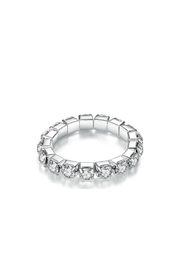 Twisted Designs Rhinestone Stretch Toe-Ring - Front cropped