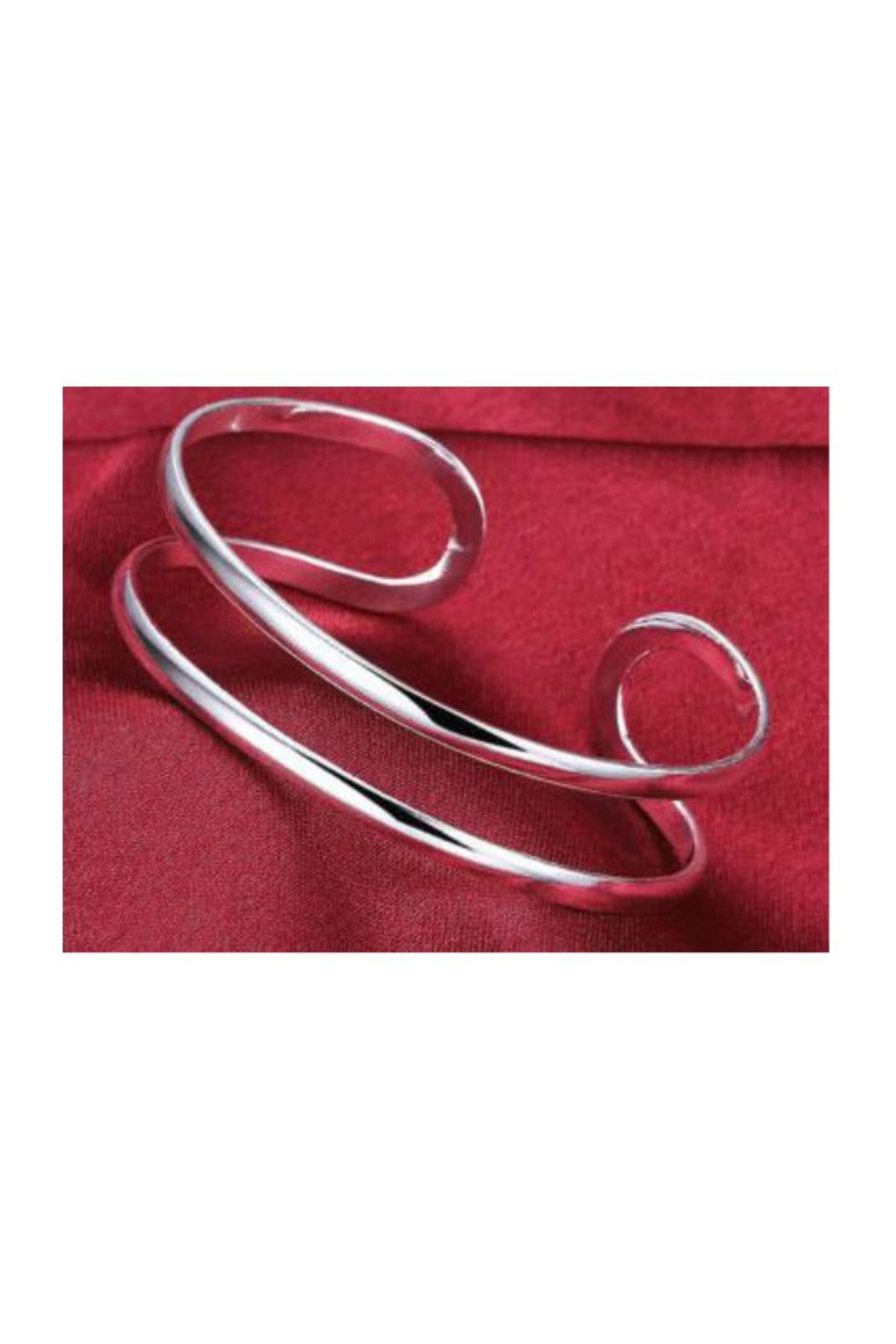 Twisted Designs Silver-Plated Open Cuff - Main Image