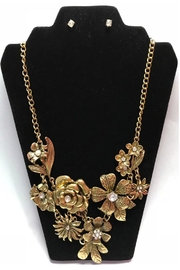 Twisted Designs Statement Necklace-Earring Set - Product Mini Image