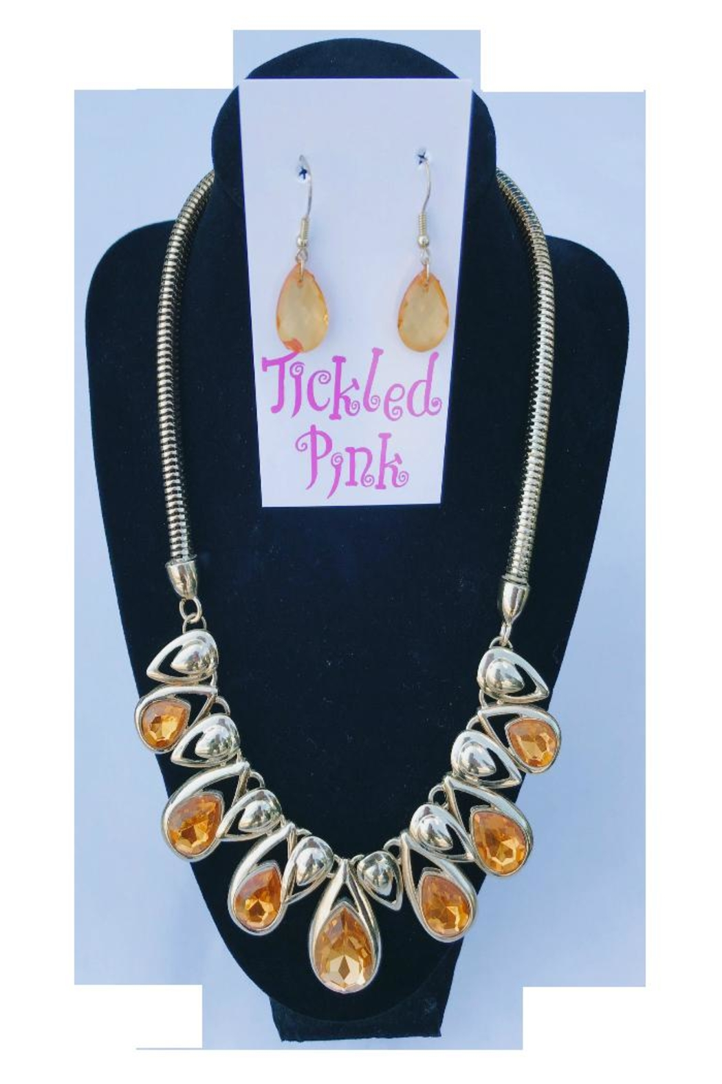 Twisted Designs Statement Necklace Earring-Set - Main Image