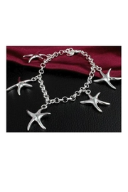 Twisted Designs Sterling-Silver Starfish Bracelet - Product Mini Image