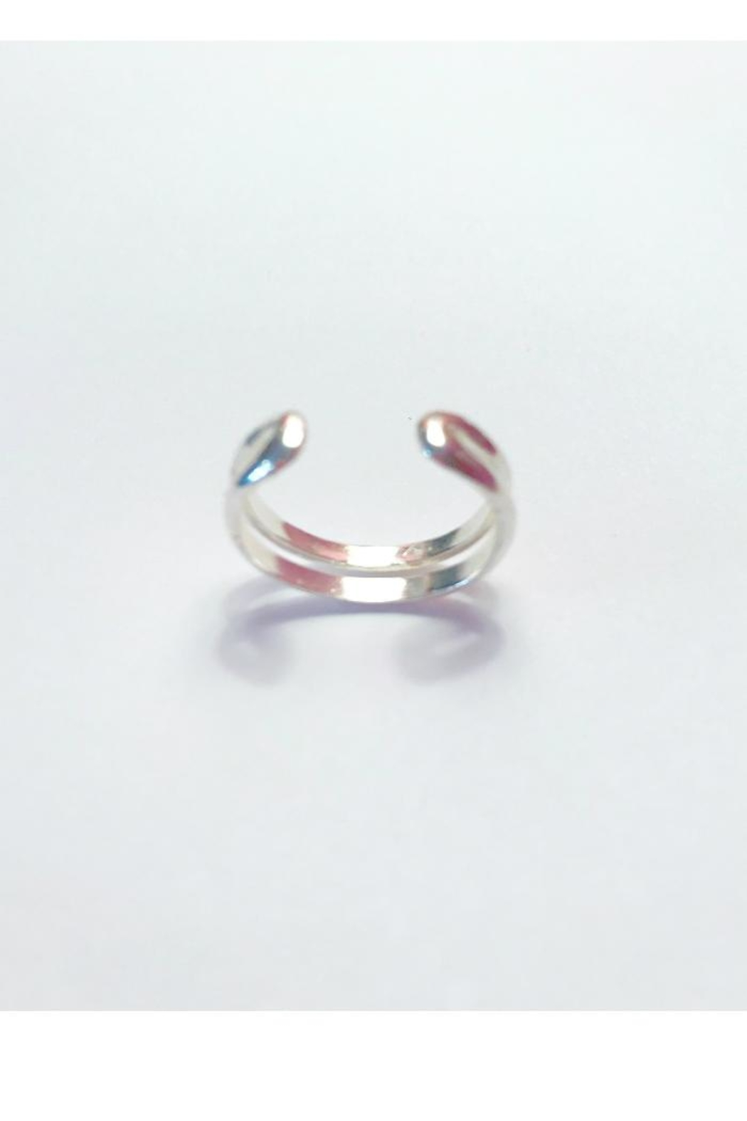 Twisted Designs Sterling Silver Toe-Ring - Front Full Image