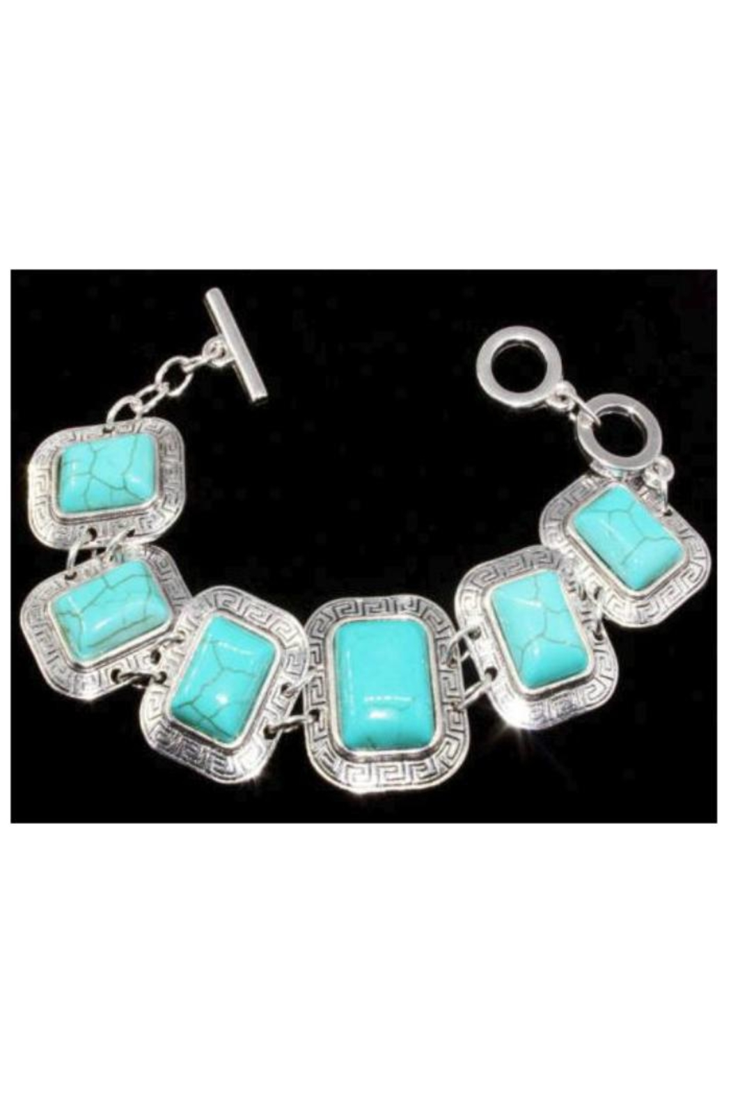 Twisted Designs Tibet-Silver Turquoise Bracelet - Main Image