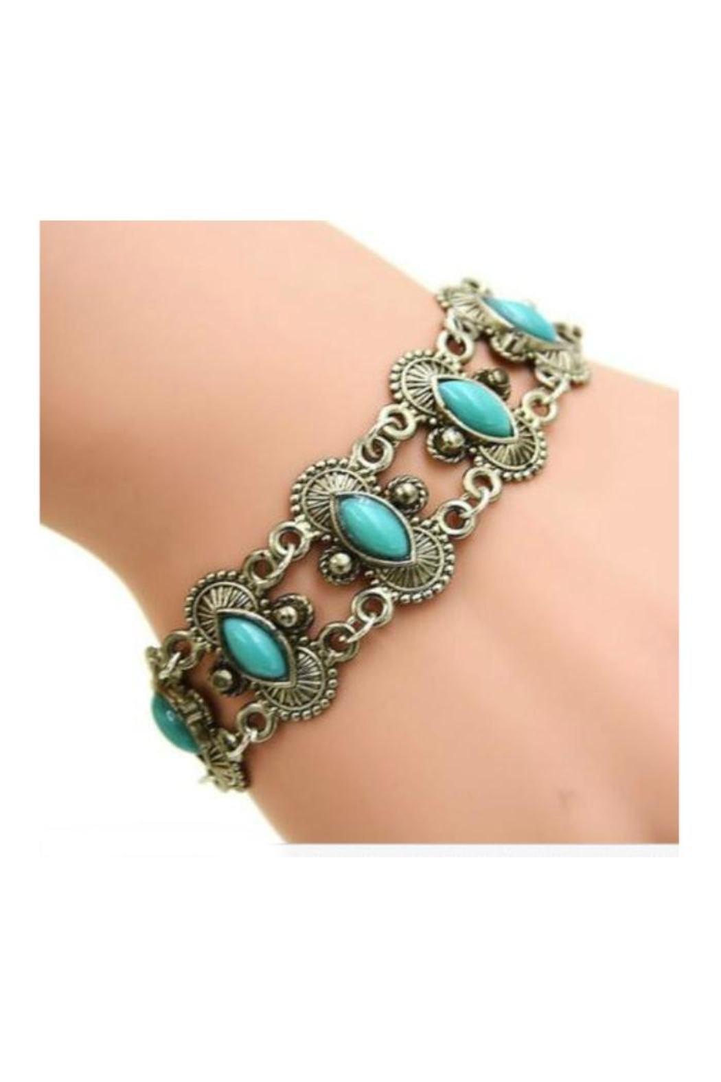 Twisted Designs Turquoise Tibet-Silver Bracelet - Main Image