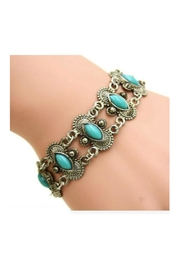 Twisted Designs Turquoise Tibet-Silver Bracelet - Product Mini Image