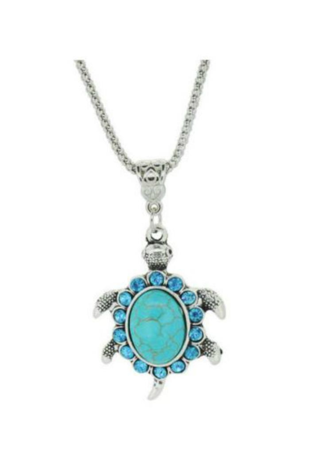 Twisted Designs Turquoise Turtle Necklace - Main Image