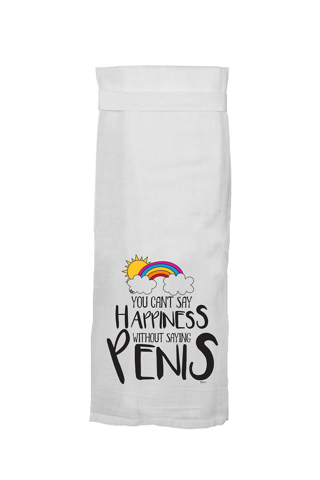 Twisted Wares Can't Say Happiness Towel - Main Image
