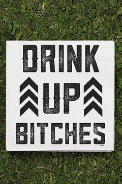 Twisted Wares Drink Up Bitches-Napkin - Alternate List Image