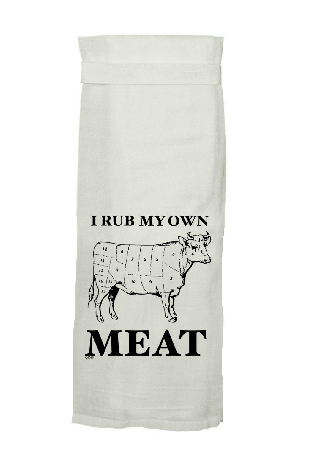 Twisted Wares Own Meat Towel - Front Cropped Image