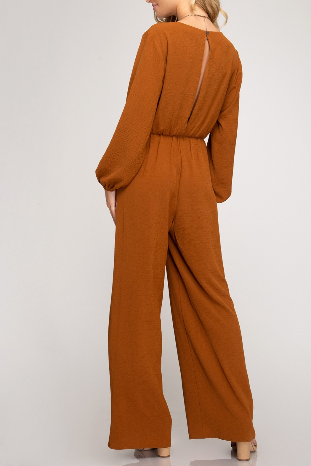 She + Sky Twisty Treats Jumpsuit - Front Full Image