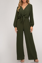She + Sky Twisty Treats Jumpsuit - Front cropped