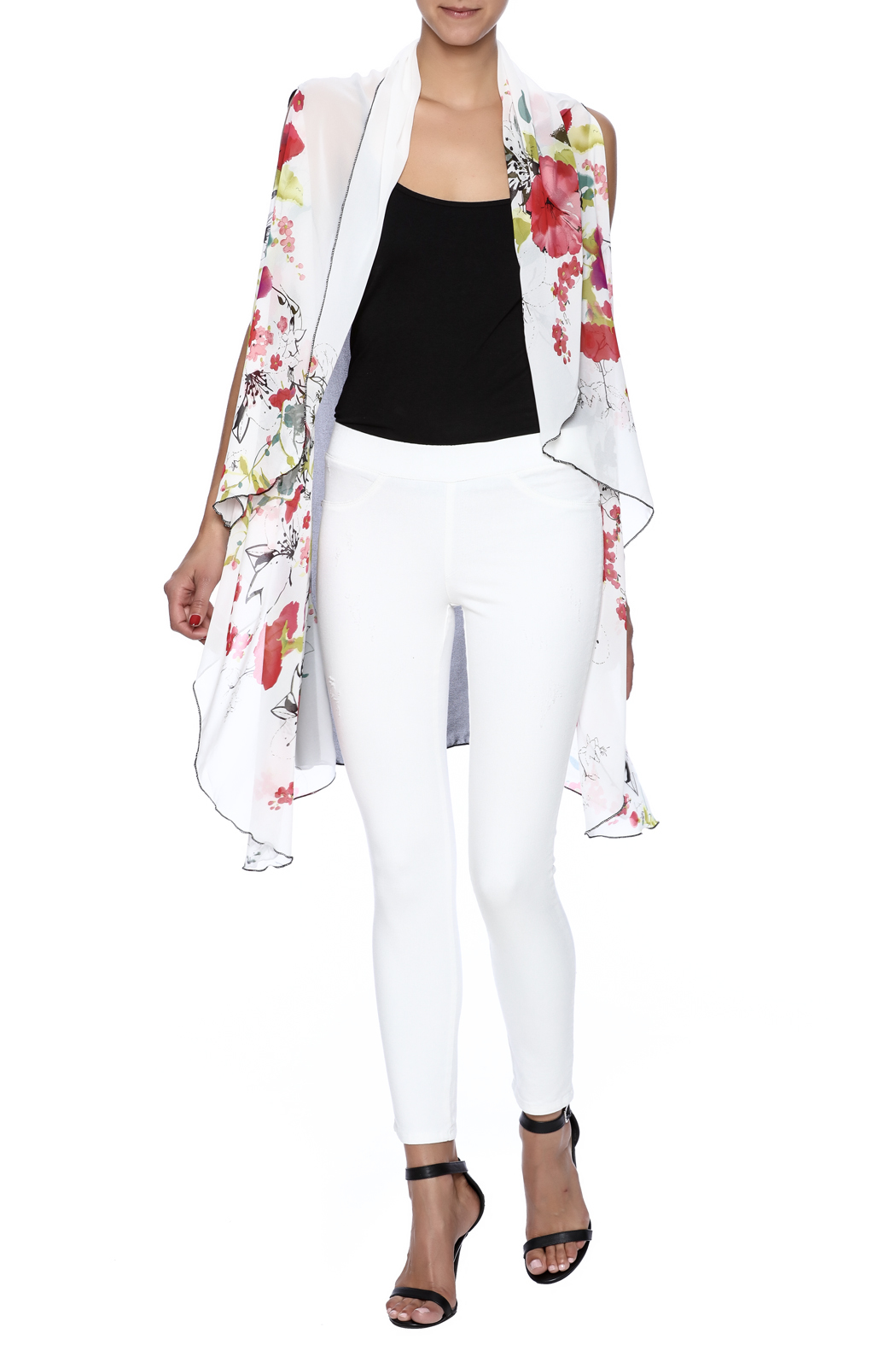 Two Chic Cherry Blossom Vest - Front Full Image