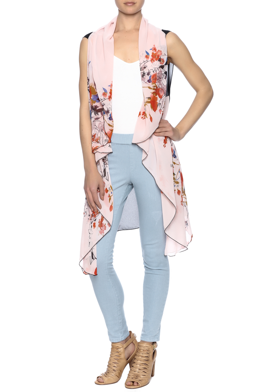 Two Chic Cherry Blossom Vest - Main Image
