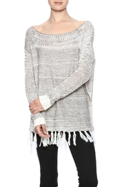 Two Chic Luxe Fringe Spring Sweater - Product Mini Image