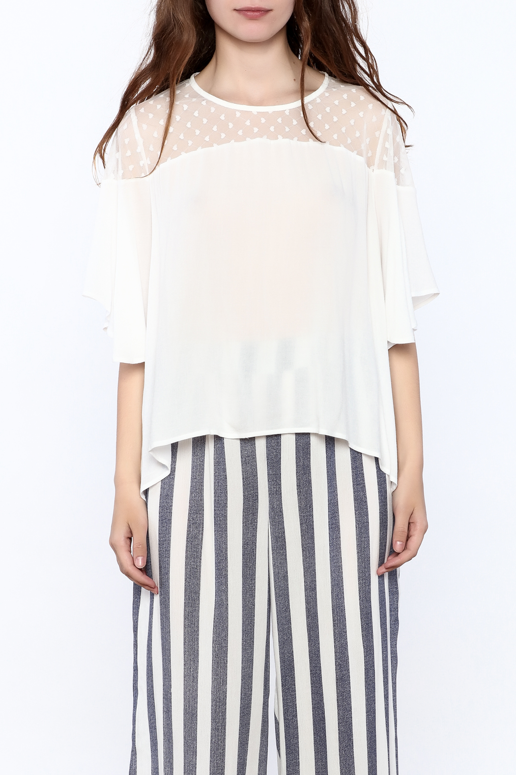 Two Chic Luxe White Lightweight Blouse - Side Cropped Image