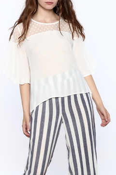 Two Chic Luxe White Lightweight Blouse - Product List Image